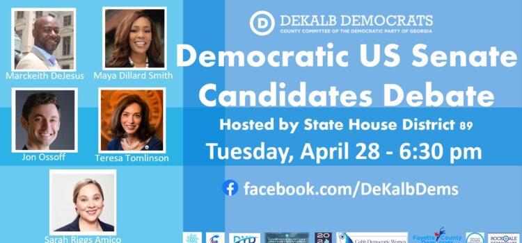 US Democratic Senate Debate