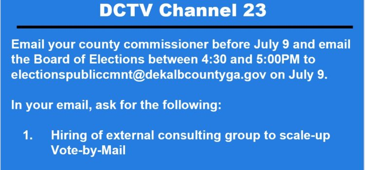 DeKalb County Elections Call to Action
