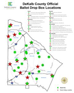 Map of Ballot Drop Boxes