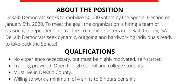 DeKalb County Democrats Looking to Hire Staffers